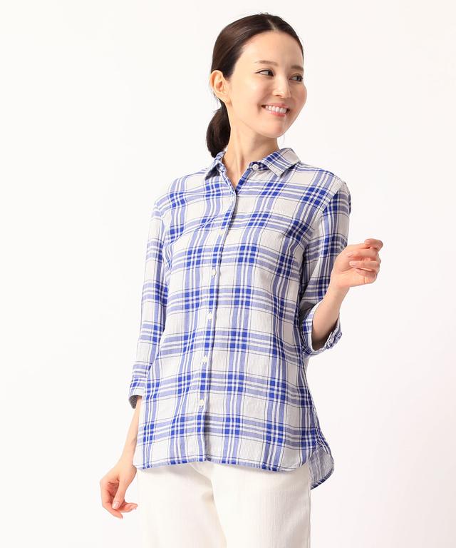 90c391cdf5d6 7分袖チェックシャツ - CROCODILE(クロコダイル) 公式通販サイト